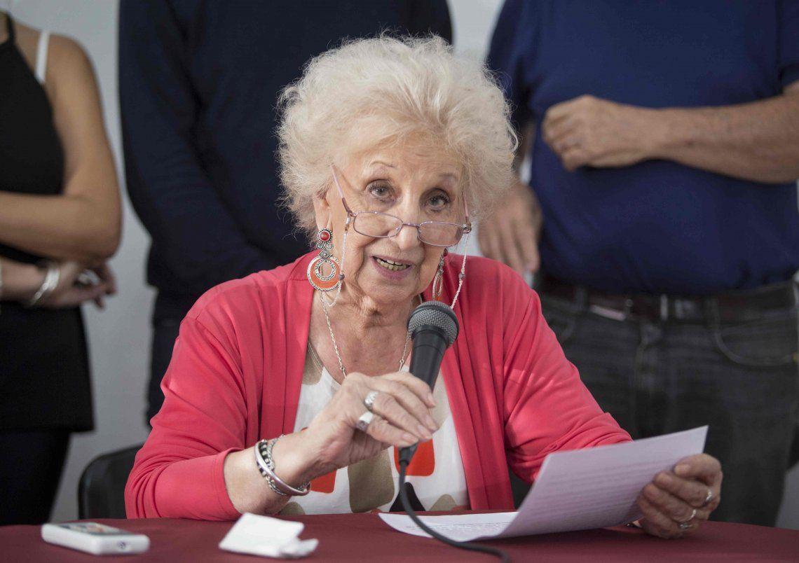 Estela de Carlotto criticó la oficina de DDHH para policías y cruzó a Bullrich: ¿Que quiere hacer esta muchacha?