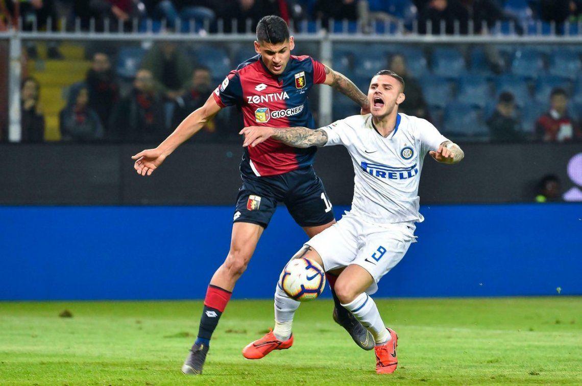 Mauro Icardi volvió con un gol y el Inter goleó al Genoa