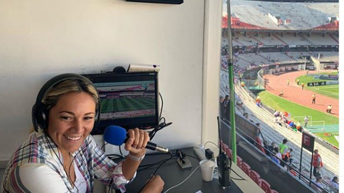 Rocío Oliva debutó como comentarista en los partidos de River