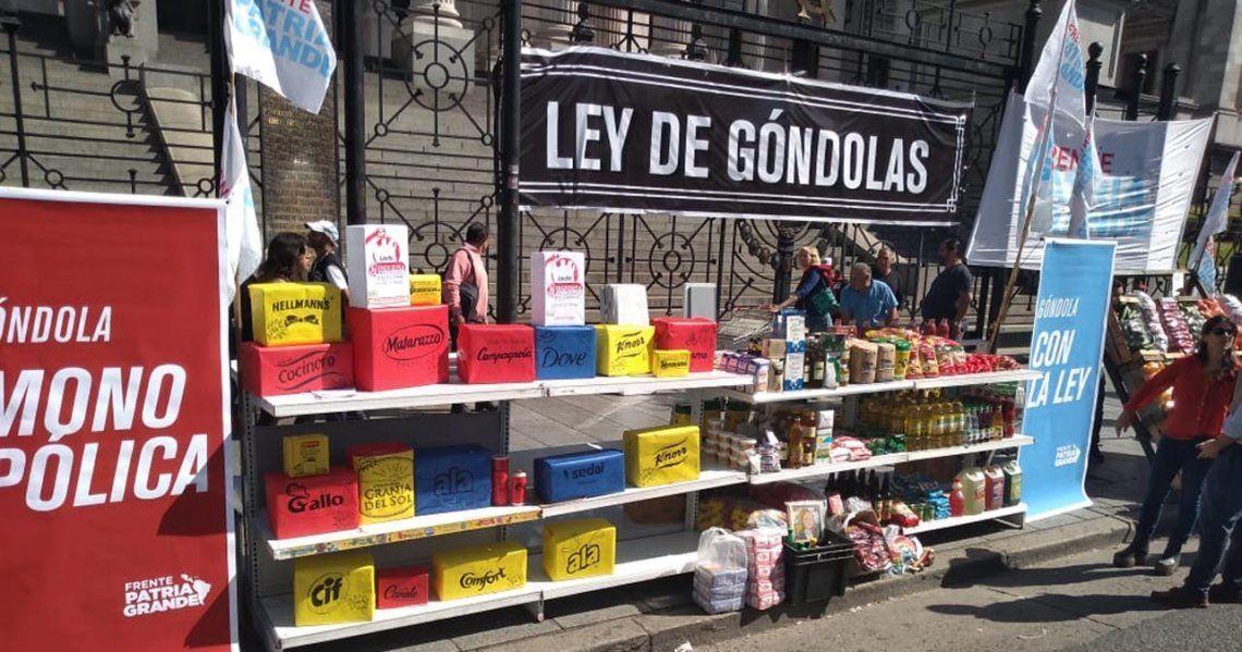 #Gondolazo: el Frente Patria Grande de Juan Grabois presentó la Ley de Góndolas contra la inflación