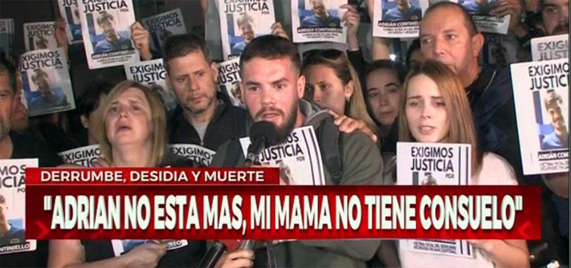 San Cristobal: vecinos y familiares pidieron justicia por Adrián Continiello
