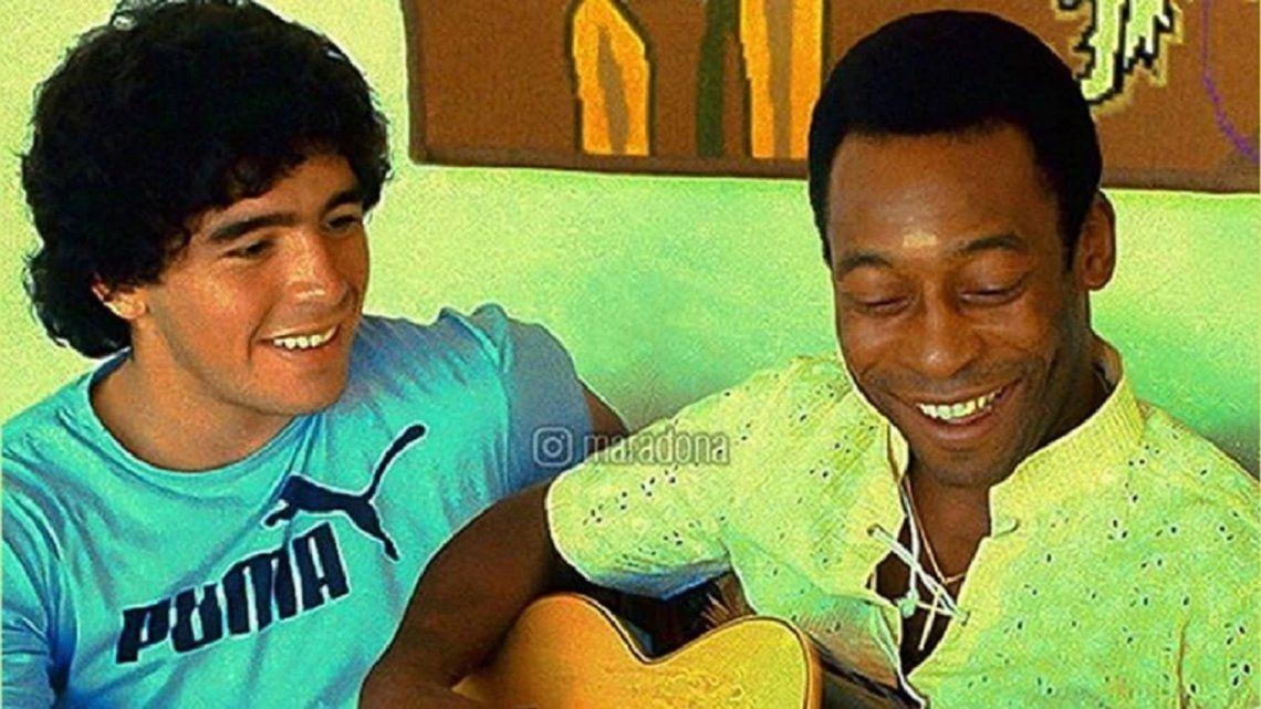 Maradona le dedicó un posteo a la salud de Pelé