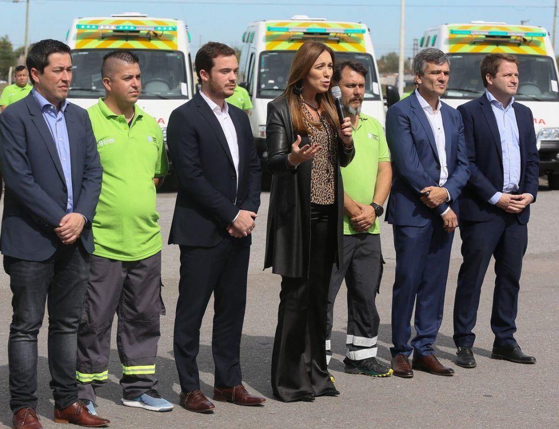María Eugenia Vidal anunció que el SAME ya opera en 100 municipios de la provincia y que trabajamos para llegar a los 135 cuando termine 2019