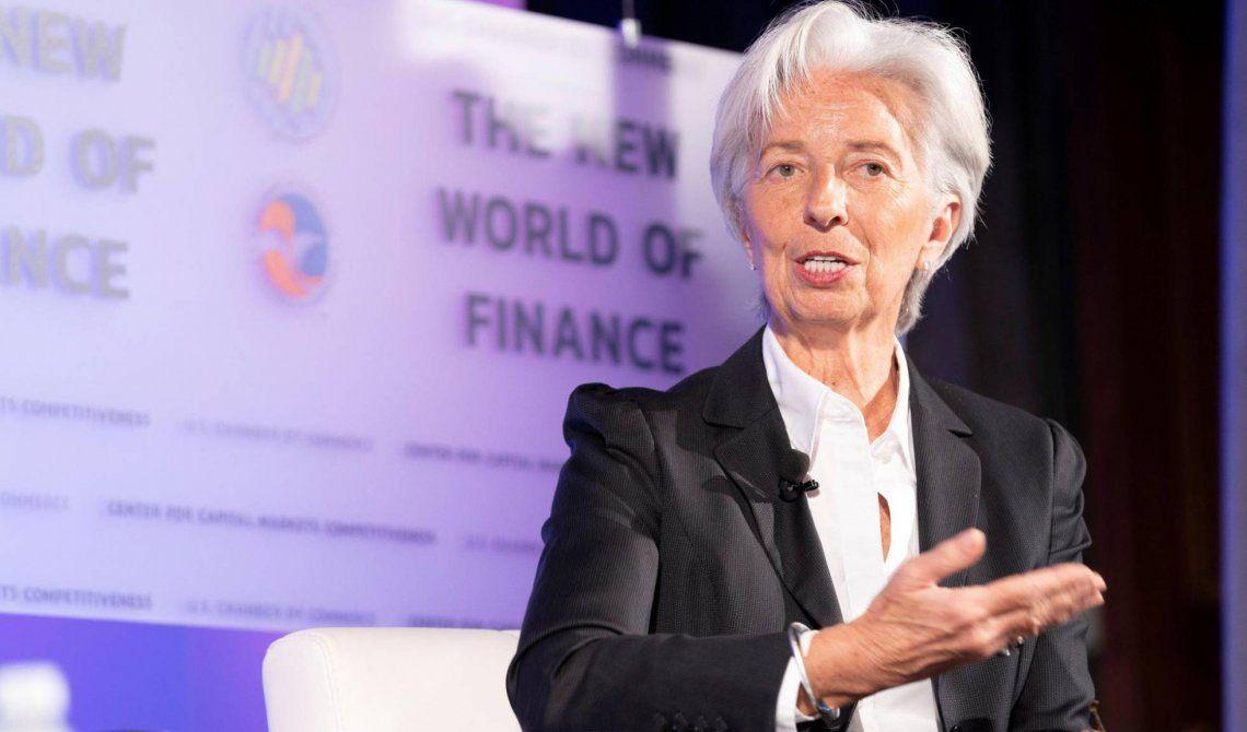 Lagarde aseguró que la economía argentina empieza a repuntar