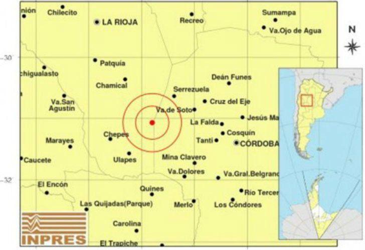 Un fuerte temblor sorprendió a Villa Dolores, en Córdoba