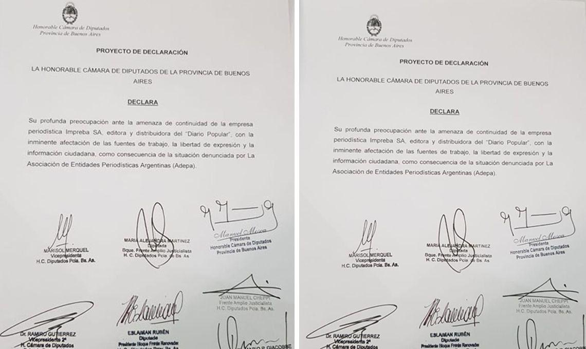 Fallo judicial contra Popular: la cámara de Diputados bonaerense apoya al diario