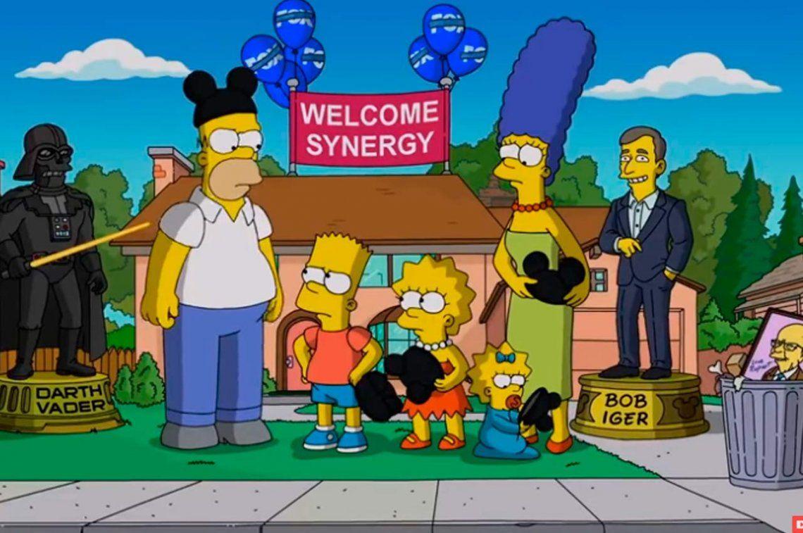 La humillante e incómoda bienvenida de Los Simpson a Disney