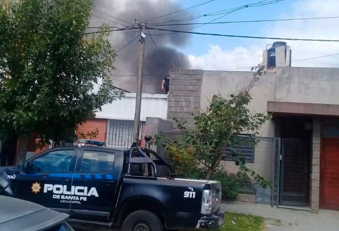 Santa Fe: quiso prender el fuego para el asado, pero incendió su casa