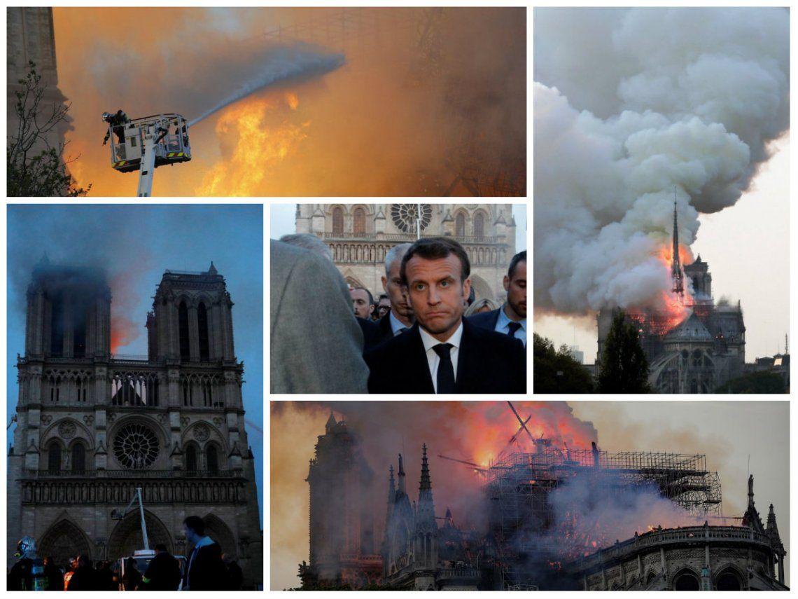 Emmanuel Macron: Vamos a volver a construir Notre Dame