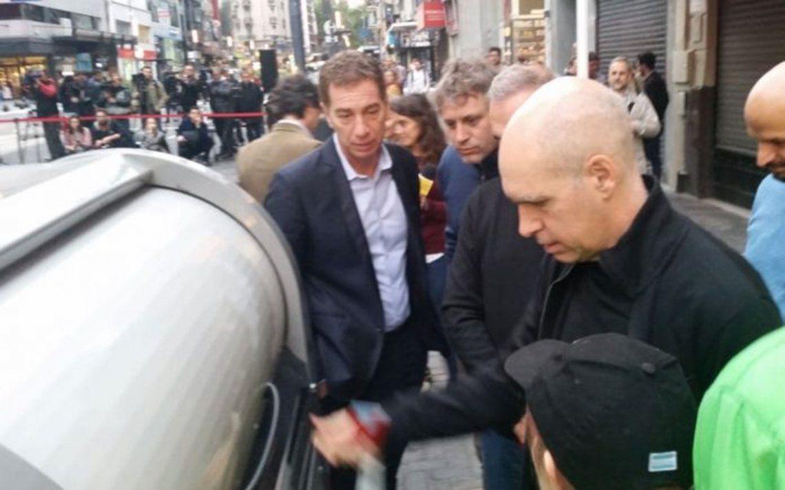 Cartoneros marchan en contra de la instalación de contenedores inteligentes