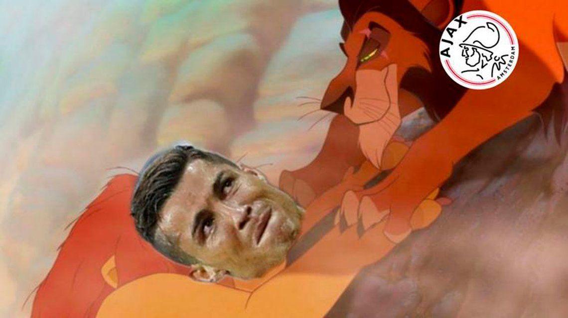 Se ríen de Cristiano Ronaldo: los memes tras la eliminación de la Juventus ante el Ajax