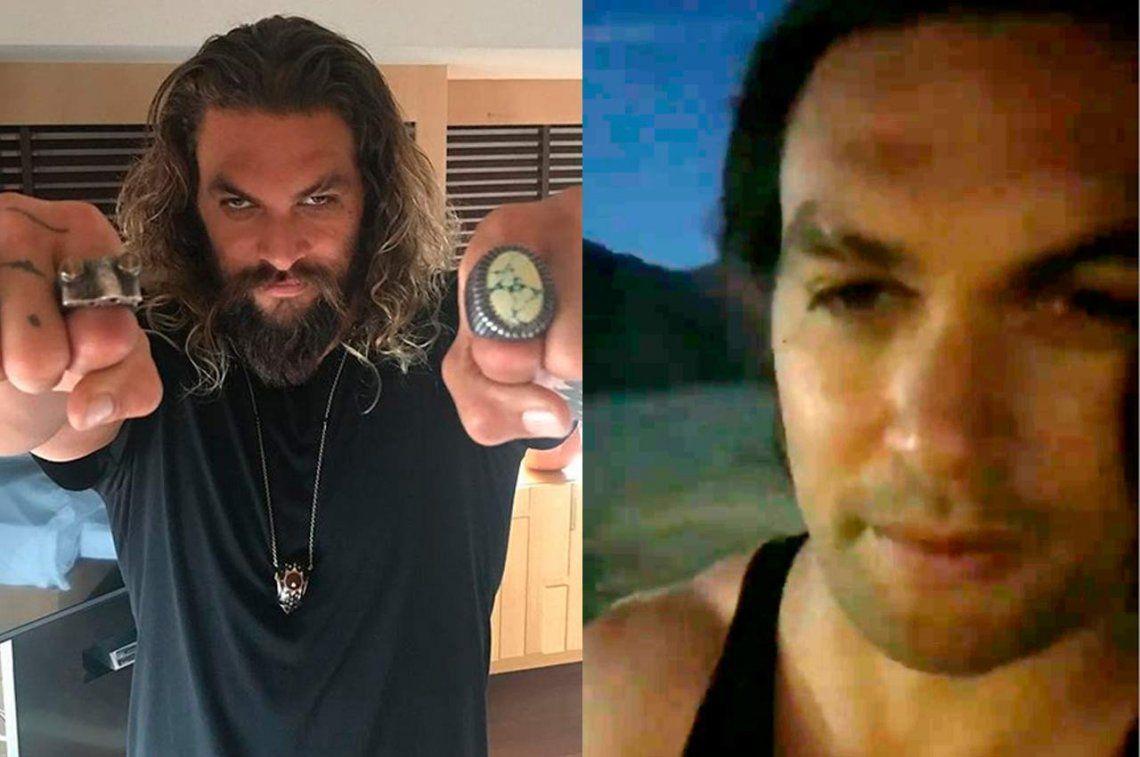 Un héroe hasta del reciclaje: después de 7 años, el actor de Aquaman, Jason Momoa, se afeitó por una causa noble