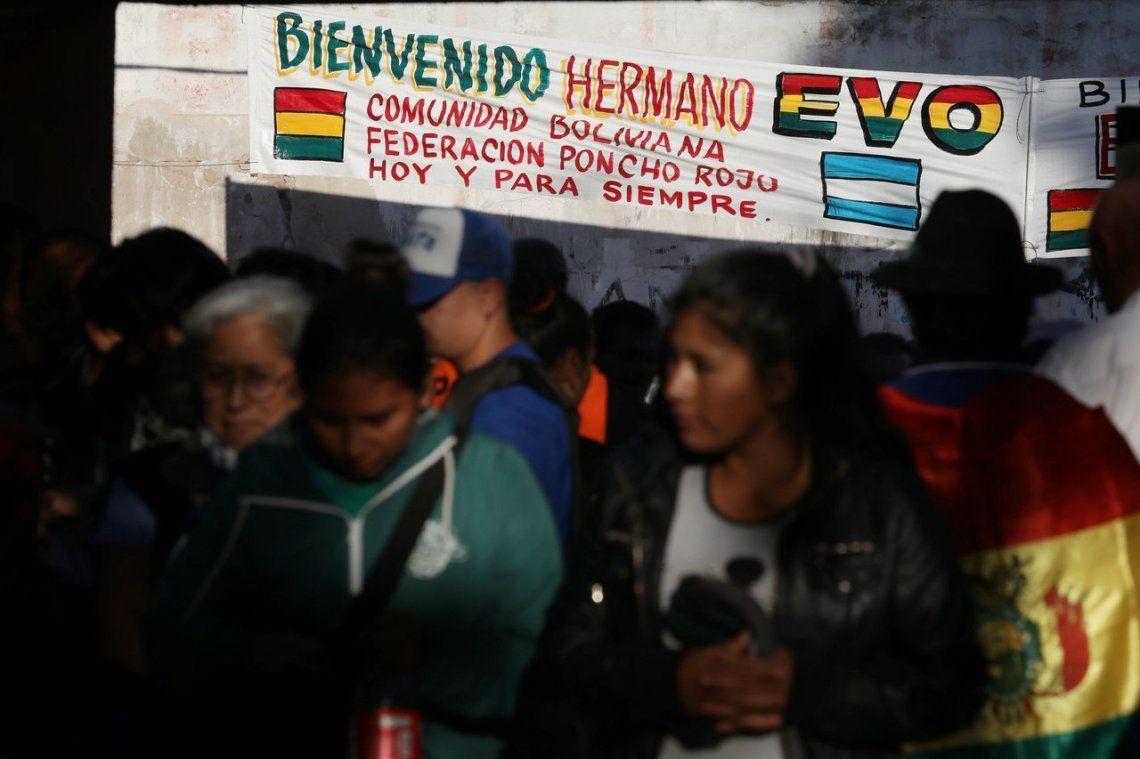 La Matanza: Evo Morales participa de un acto con la comunidad boliviana en Argentina