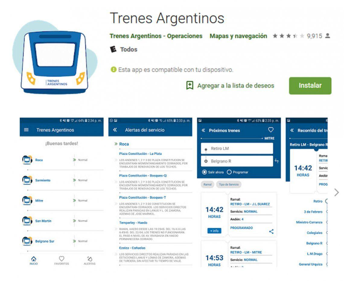 Trenes Argentinos actualizó su aplicación: qué nuevas funciones sumó para el usuario