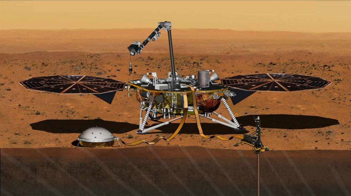 Registraron por primera vez un terremoto en Marte