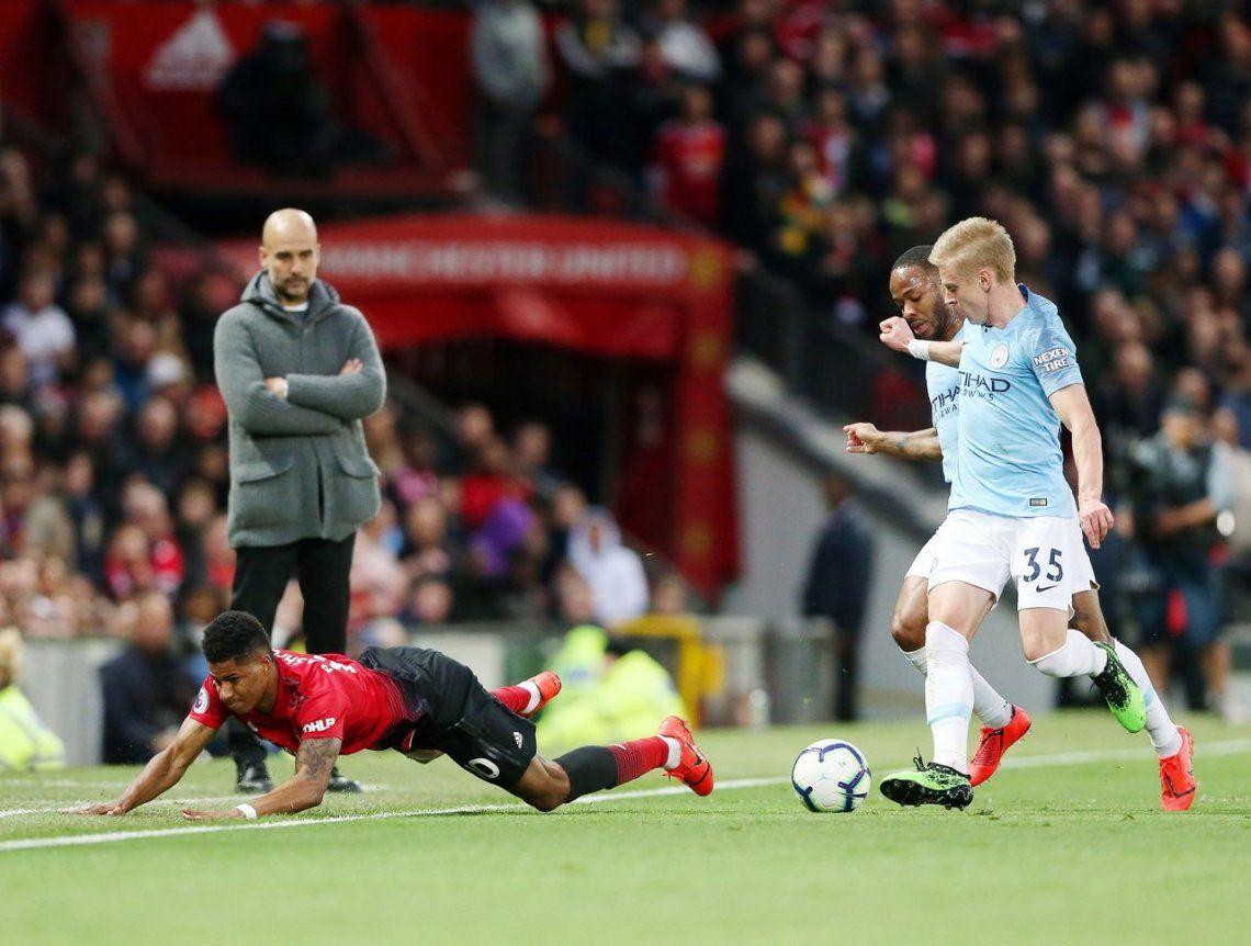 Manchester City le ganó el clásico al United y recuperó la punta de la Premier League