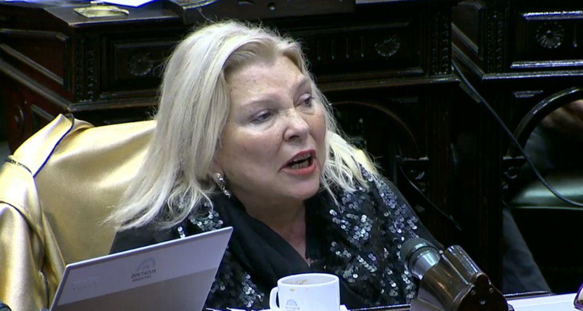 Carrió: Ahora quedó muy claro que los que no querían bajar impuestos eran los gobernadores del PJ
