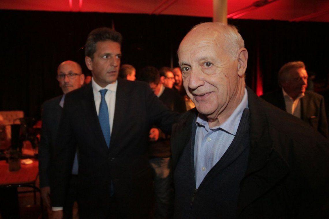 Roberto Lavagna y Sergio Massa estuvieron juntos en el congreso de la Uocra