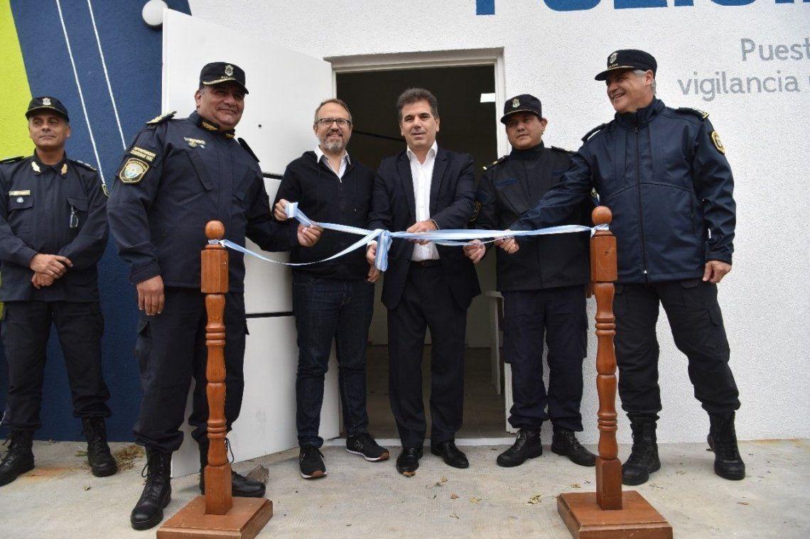Ritondo inauguró un destacamento de Seguridad Vial y un edificio para la comisaría de la Mujer