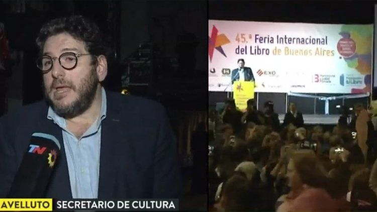 Avelluto, tras los silbidos en la Feria del Libro: Hay un autoritarismo residual