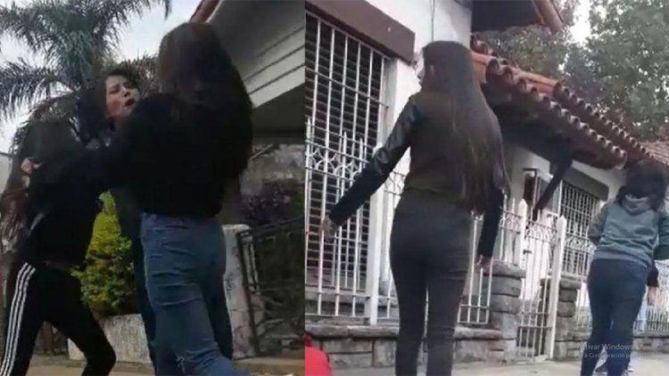 Brutal paliza a una madre y su hija frente a una escuela
