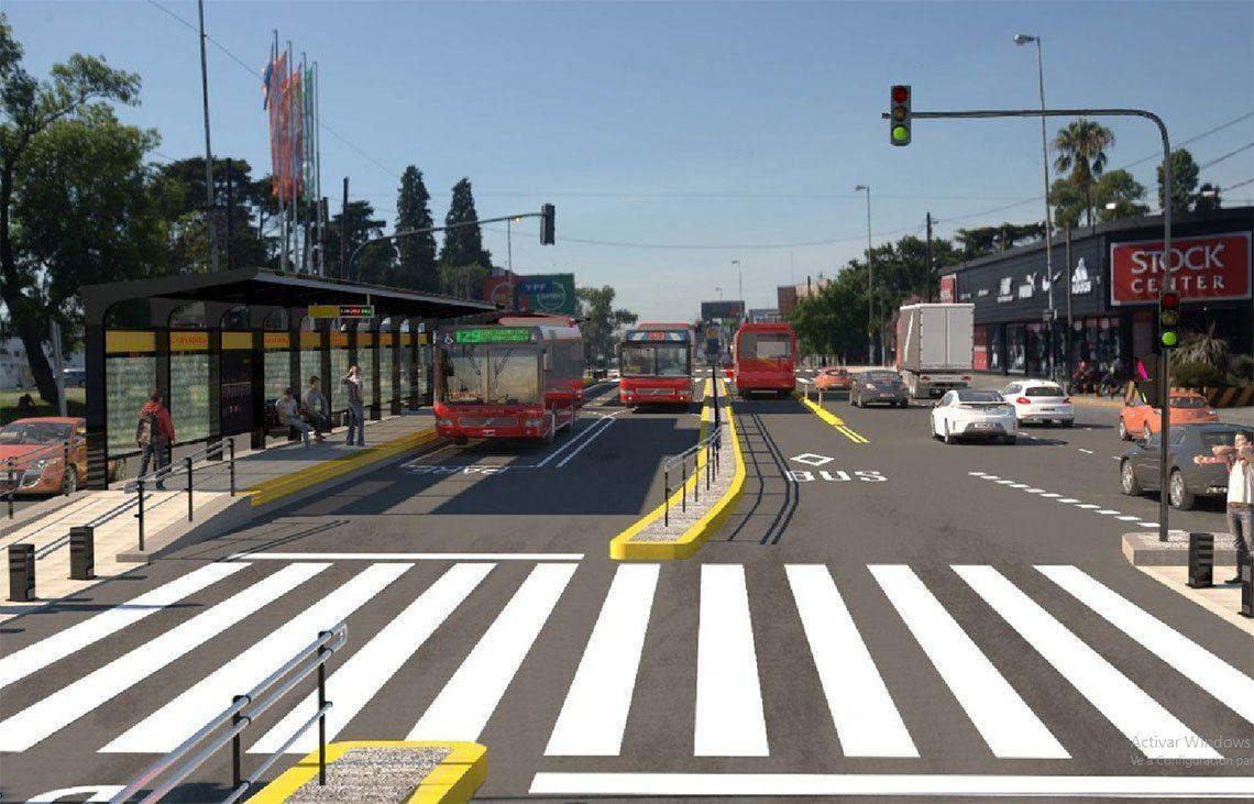 Florencio Varela: Inauguran el Metrobus con la presencia de Vidal y Macri