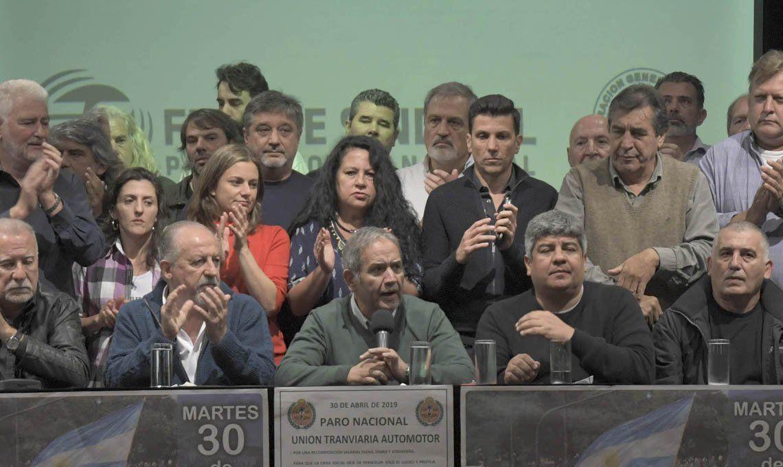 La CTA y el Frente Sindical ratificaron el paro nacional del próximo martes y anunciaron marcha a Plaza de Mayo