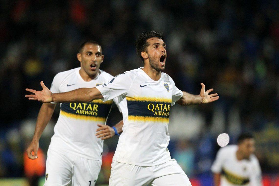 Boca venció a Godoy Cruz con suplentes y un gol polémico en el final
