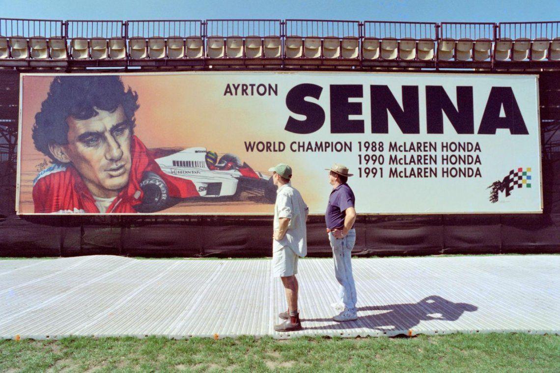 1996 | Mural gigante del piloto brasileño de Fórmula Uno