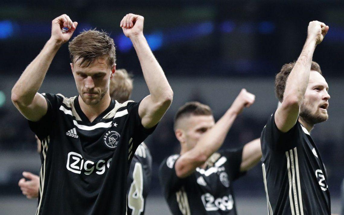 Con Tagliafico desde el comienzo, el Ajax le ganó al Tottenham en la ida de semifinales de la Champions League 2019