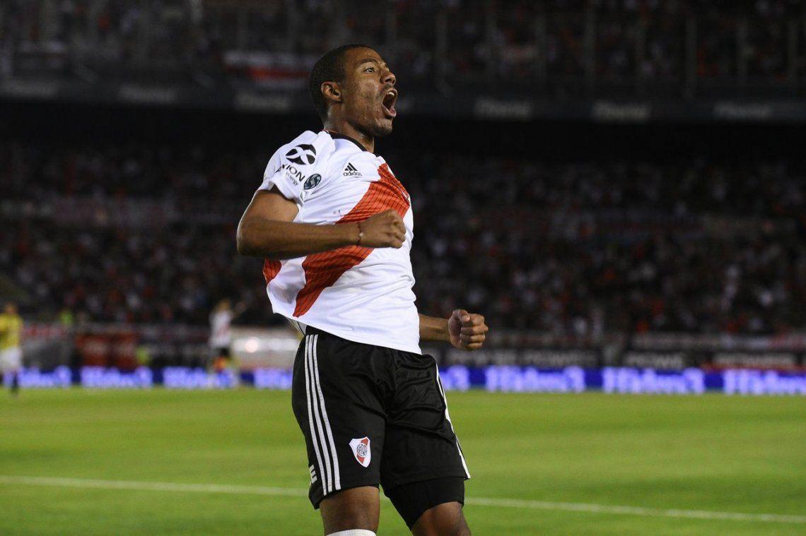 Nicolás de la Cruz, la figura de River-Central por la Copa de la Superliga: se llevó todos los aplausos y la pelota por el triplete