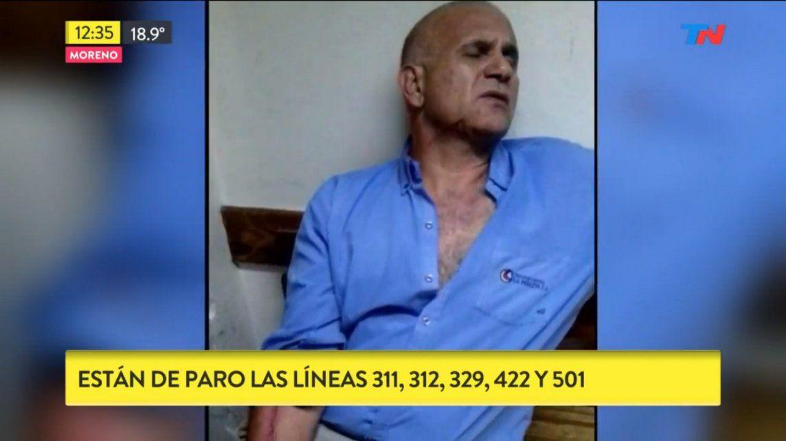 Moreno: tajearon a un chofer que los dejó subir gratis para robarle y pararon 5 líneas de colectivos