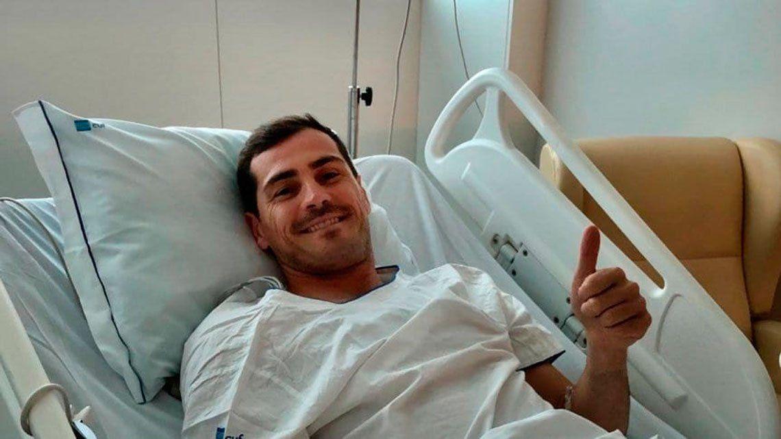 Iker Casillas evoluciona después de infarto