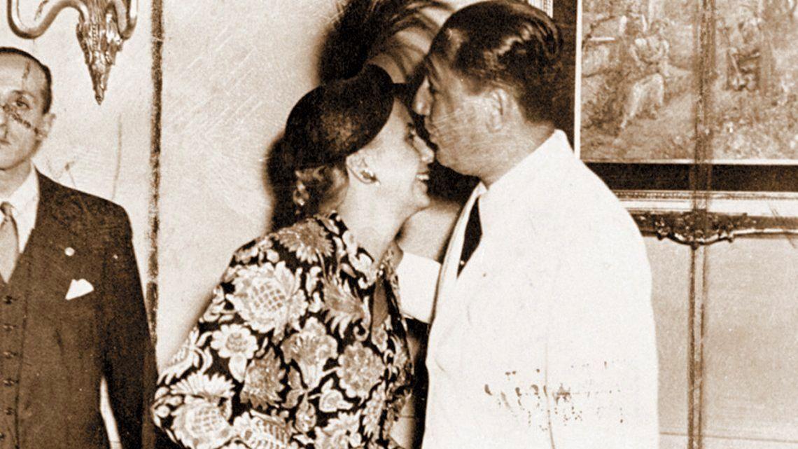 Eva Duarte y Juan Perón: una historia de amor que empezó en el Luna Park