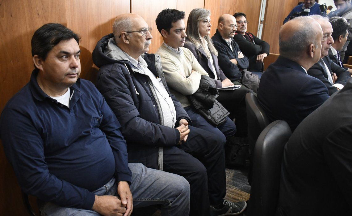 Algunos de los acusados.