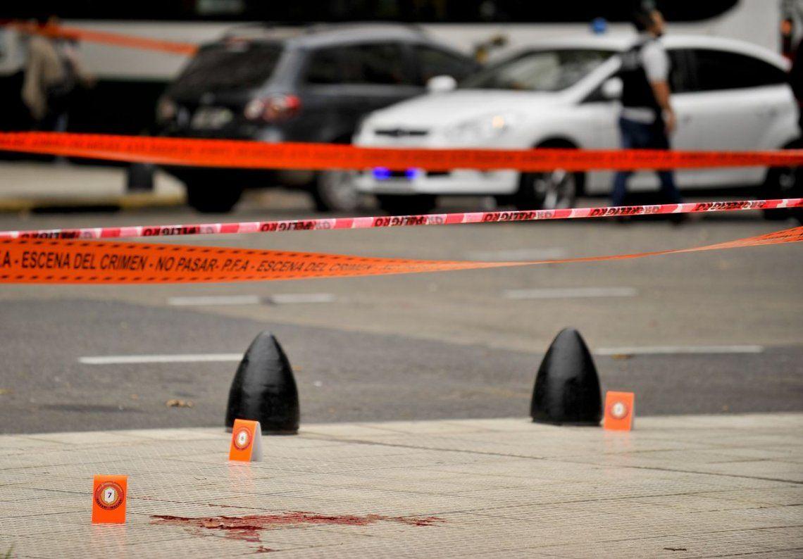 Las fotos del lugar donde fueron baleados Olivares y Yadón
