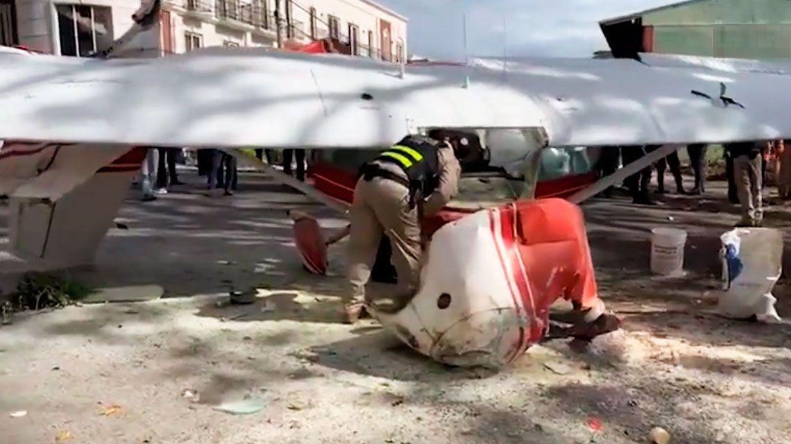 Pilotos argentinos sobrevivieron a la caída de la avioneta en la que viajaban