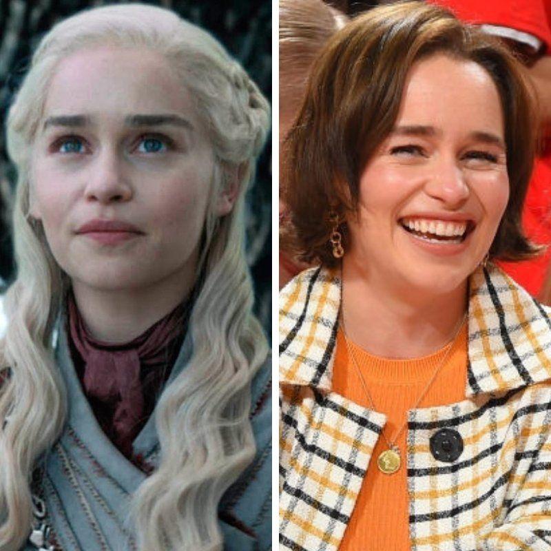De Westeros a Houston: Emilia Clarke fue a ver un partido de la NBA y enloqueció a todos los fans de Game of Thrones