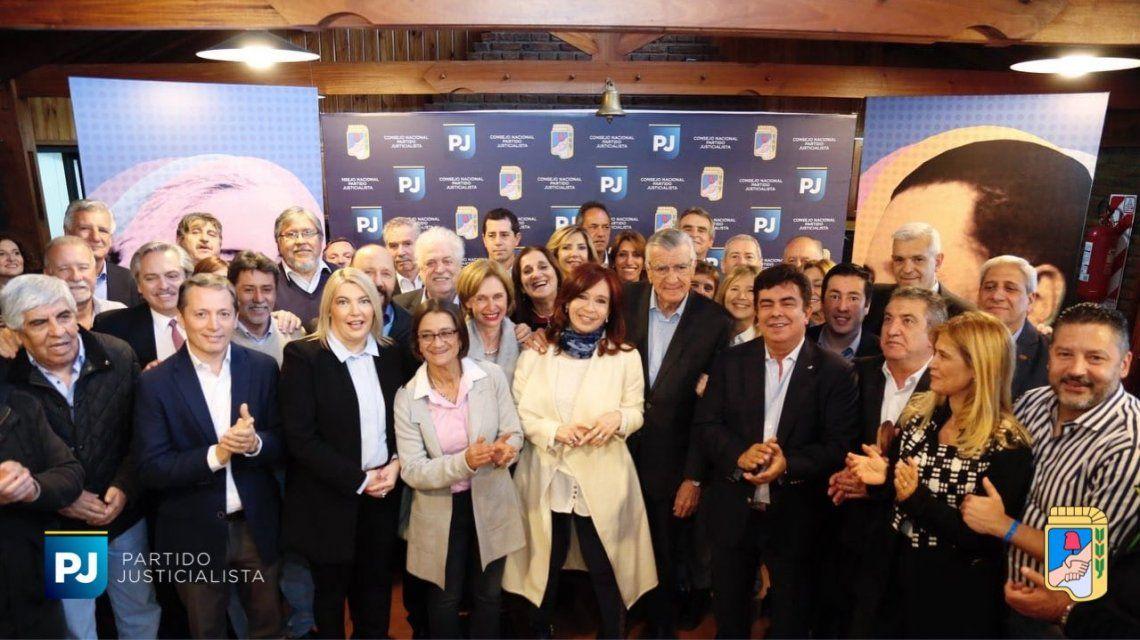Cristina Kirchner participó de la cumbre del Partido Justicialista