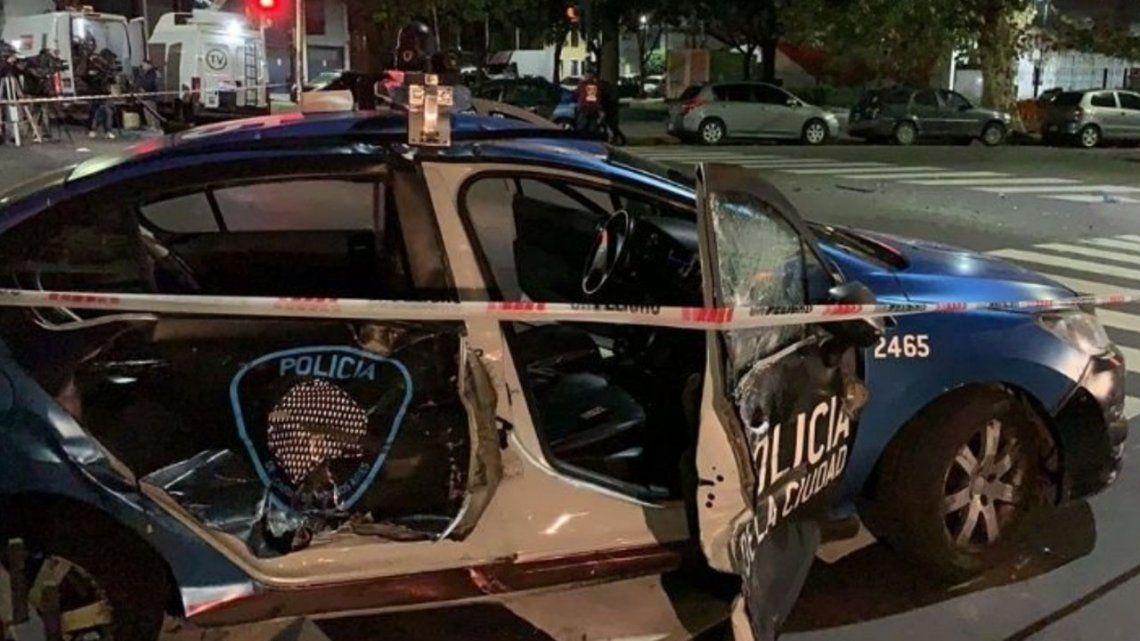 Presecución en Caballito: tiroteo, detenciones y dos patrulleros chocados durante la madrugada