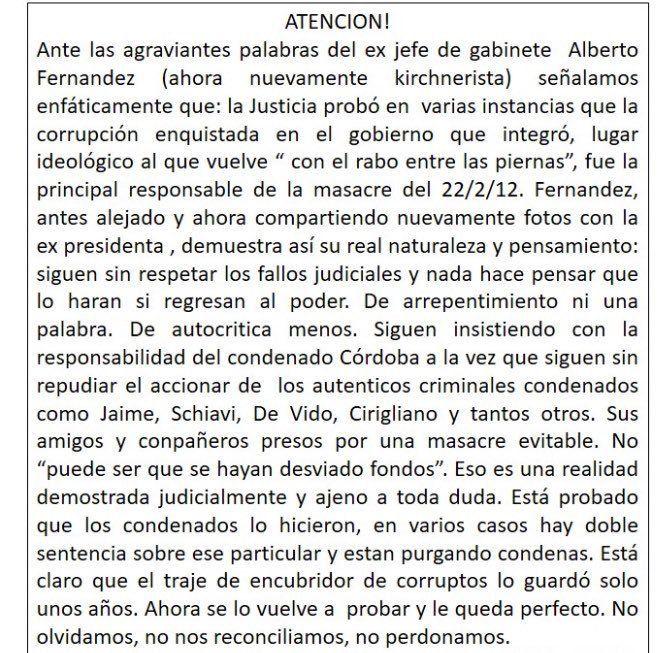 Tragedia de Once: Alberto Fernández puso en duda la desviación de fondo y familiares de víctimas le recordaron la desidia kirchnerista