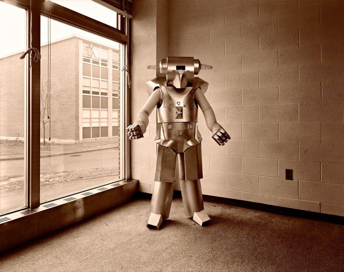 Uranium Robots -Art on a Postcard