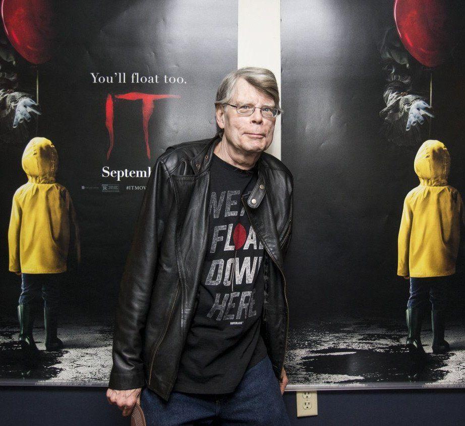 Stephen King en el estreno de la película It (2017)