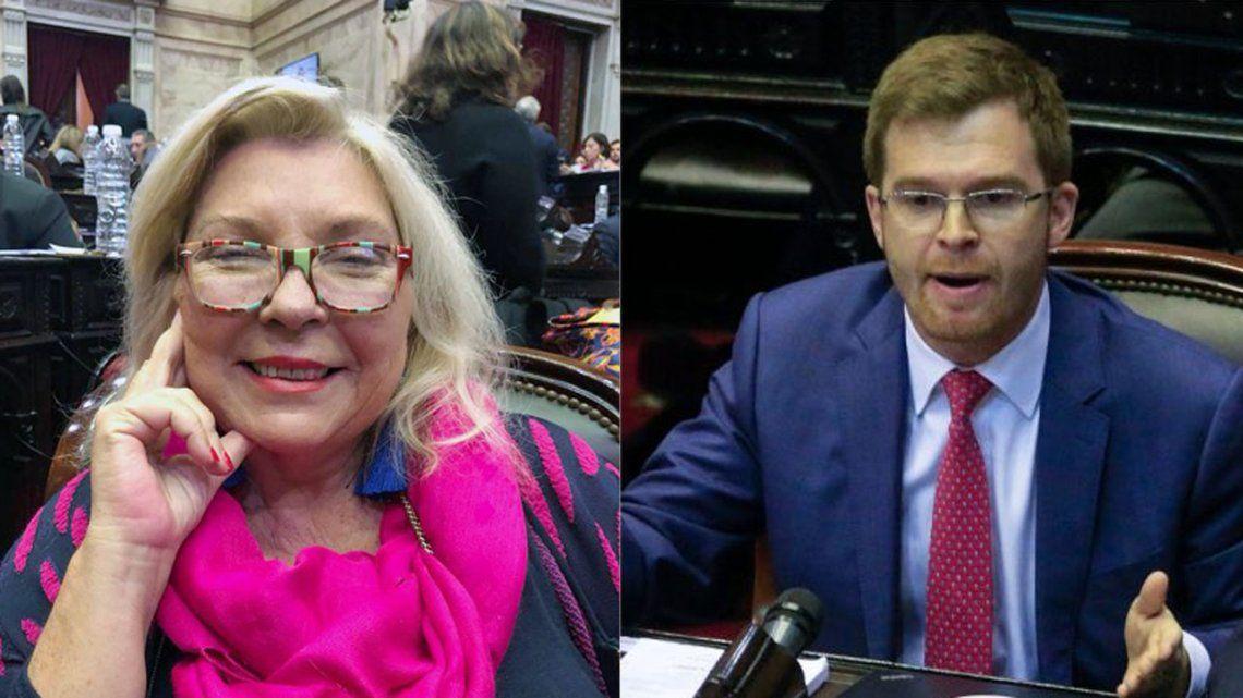 El fuerte cruce con insultos, gritos y recriminaciones entre Carrió y Massot en la Cámara de Diputados