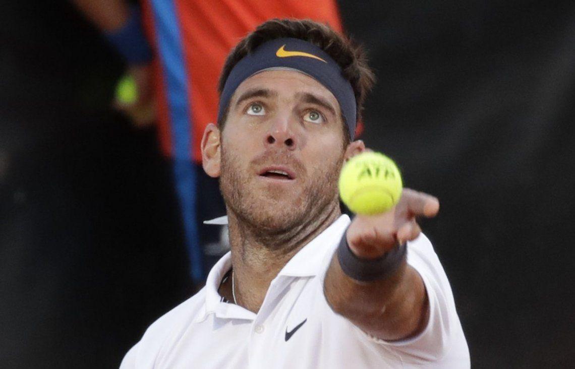 Juan Martín del Potro ganó dos partidos en un día y jugará ante Djokovic por los cuartos de final del Máster de Roma