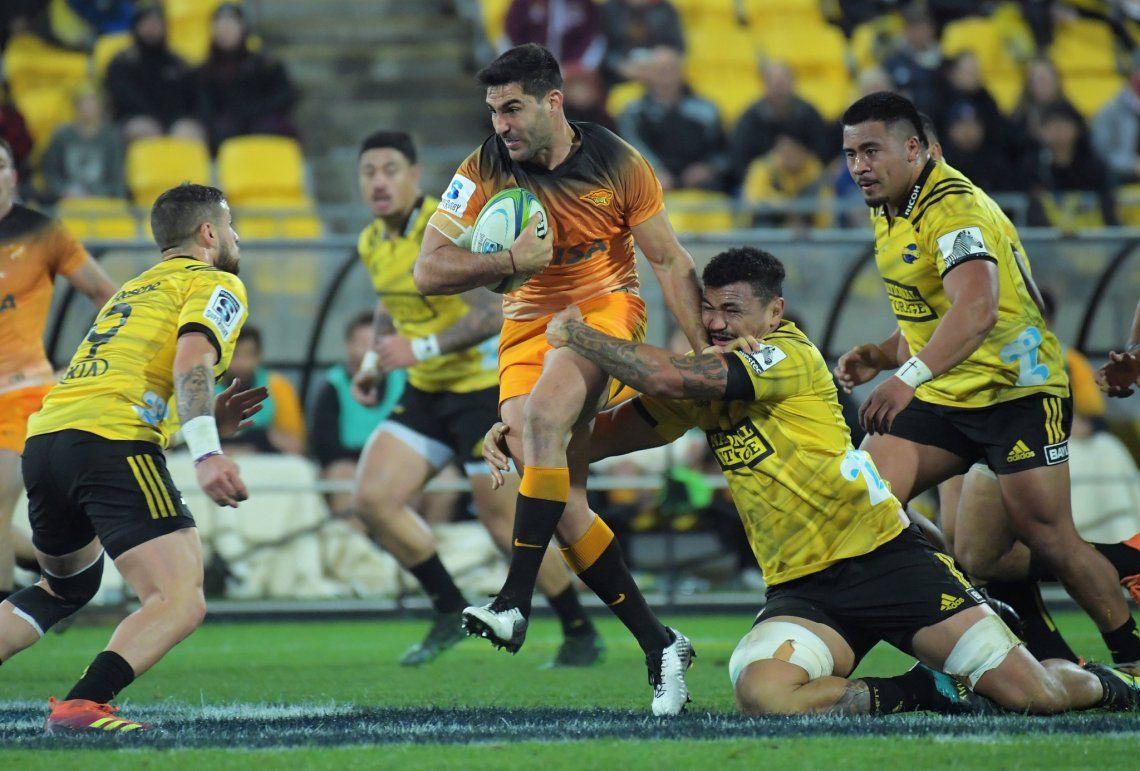 En un partido histórico, Jaguares venció a Hurricanes en Wellington