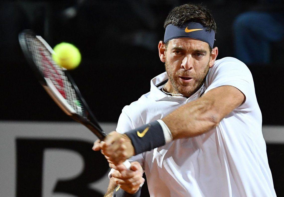Djokovic salvó dos match point ante un gran Del Potro y llegó a la semis del Máster de Roma