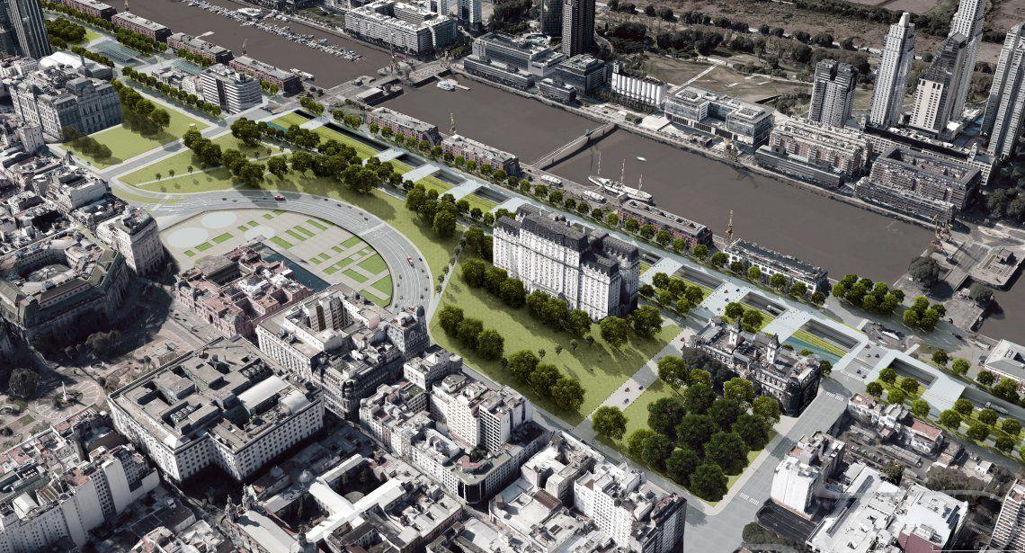 Parque del Bajo: casi 14 hectáreas de espacios verdes para la Ciudad de Buenos Aires