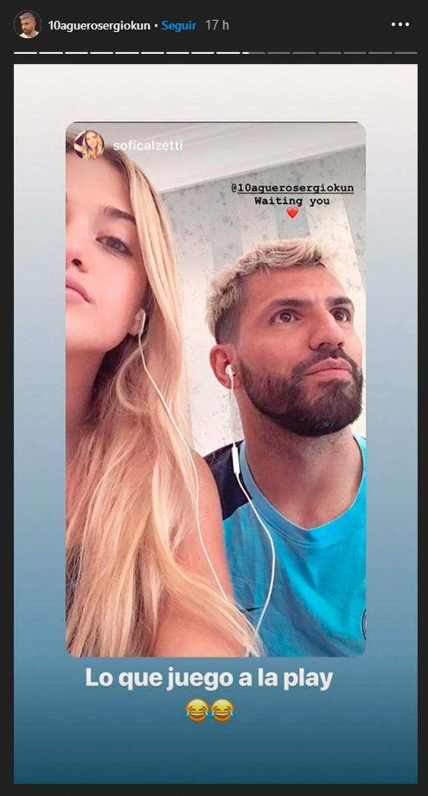 Tras los rumores con Tini Stoessel, el Kun Agüero blanqueó romance con Sofía Calzetti