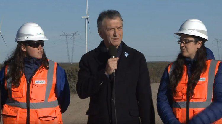 Macri visitó el Parque Eólico Pomona: La Argentina se conectó al mundo